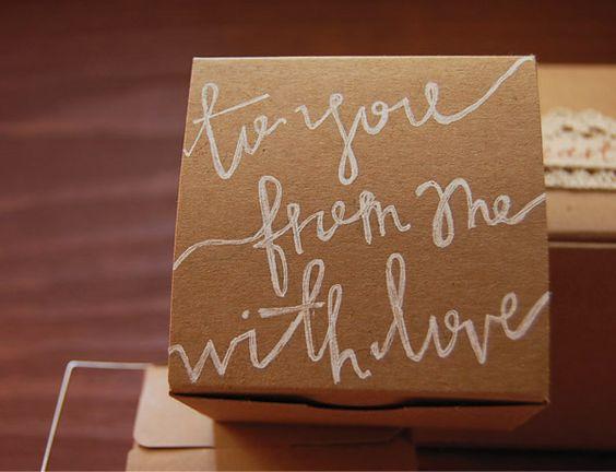 hand written gift wrap