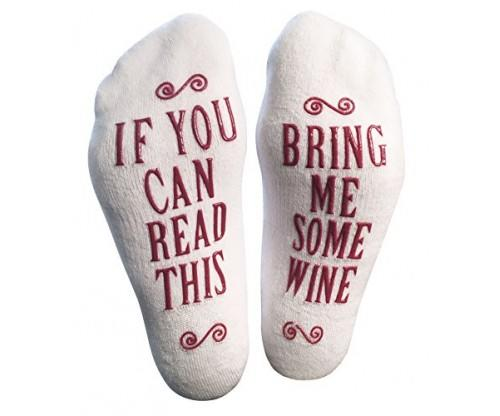 "Luxury Combed Cotton ""Bring Me Some Wine"" Socks"