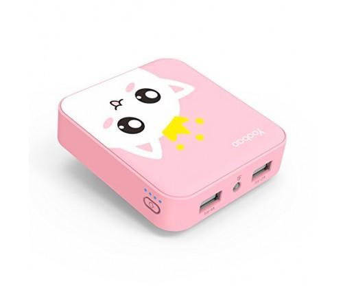 Pink Cat Mini Portable Power Bank