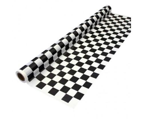 Black and White Printed Plastic Banquet Table Roll