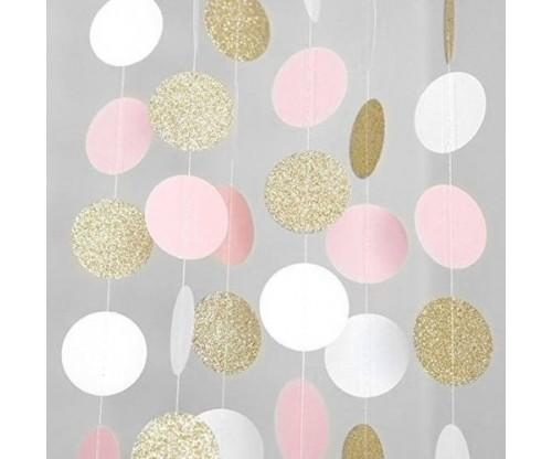 Hanging Glitter Paper Garlands