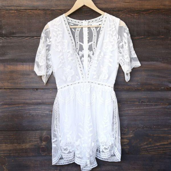 lace romper wedding dress