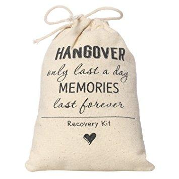 Bachelorette Party Hangover Kit Favor Bag