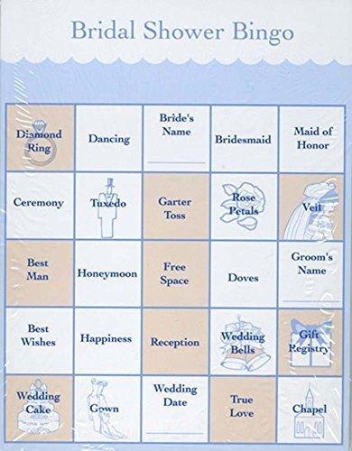 bridal shower party games bingo cards for 48 guests
