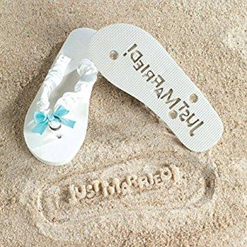 JUST MARRIED Imprint Flip Flops