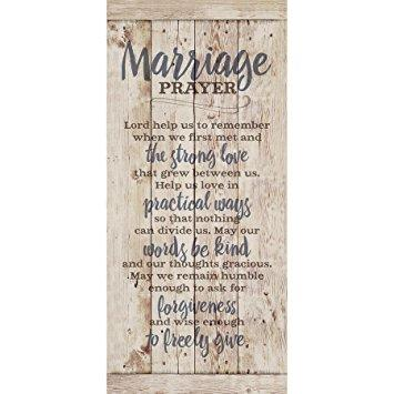 Marriage Prayer...New Horizons Wood Plaque