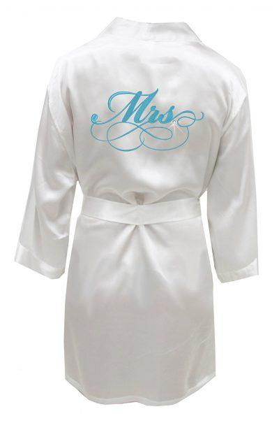Swhiteme Bridal Robe with Rhinestone