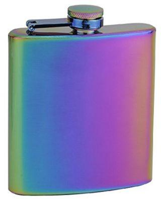 Top Shelf Flasks Rainbow Colored