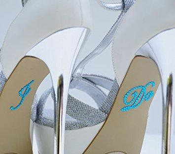 Wedding Rhinestone I Do Shoe Applique Stickers