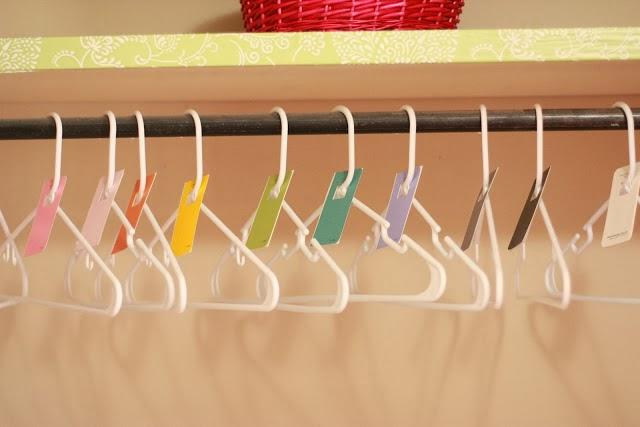 color coordinated hangers