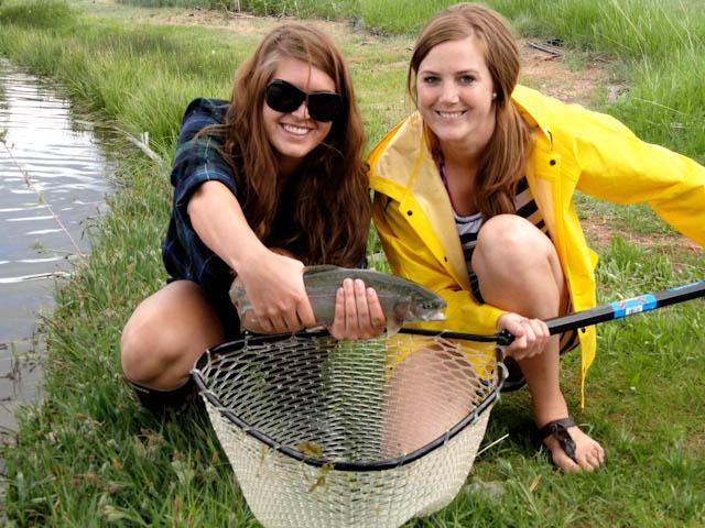 girls and fishing