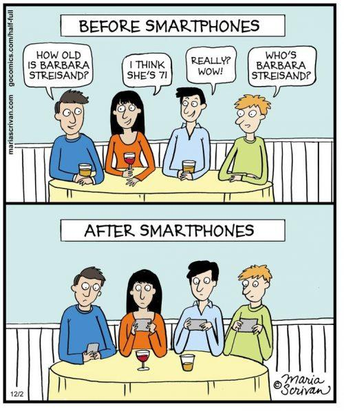 smartphones and dinners