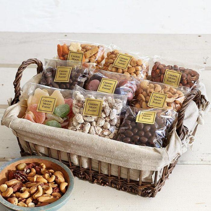 snacks in a basket