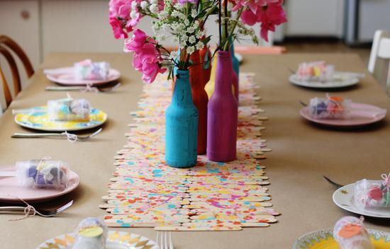 Popsicle Stick Placemats and Table Runners
