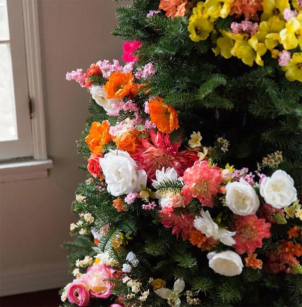 flowered christmas tree