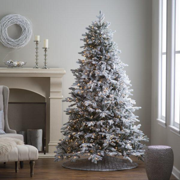 have you ever visited a department store and noticed the trees with the fake snow on their branches this is known as flocking and over recent years
