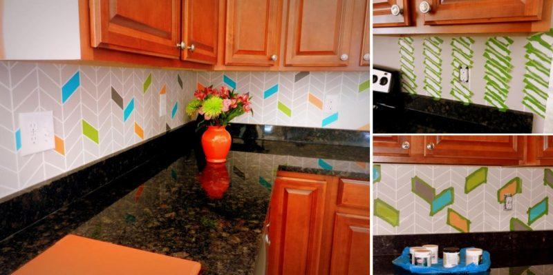 painting kitchen backsplash