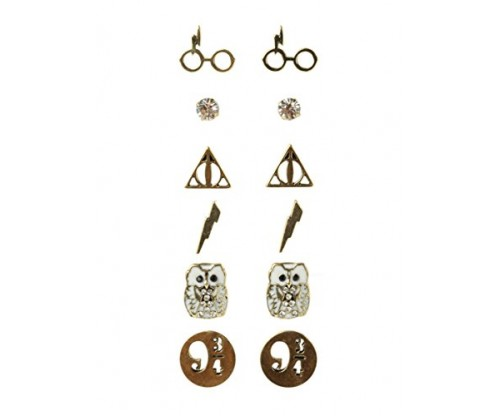 Harry Potter Earrings: 6 Pair Set