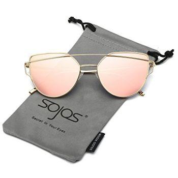 Cat Eye Mirrored Sunglasses