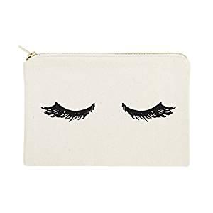 Closed Eyelashes Cosmetic Bag