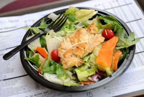 fast food salad calories