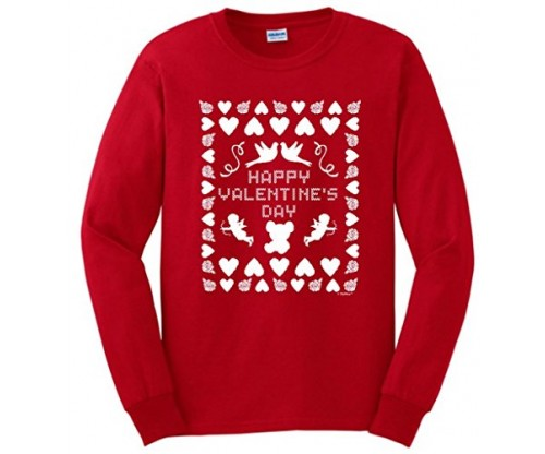 Ugly Valentines Day Sweater Long Sleeve T-Shirt