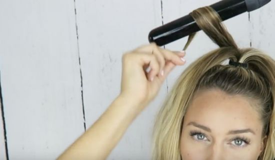 curling hair in a flash