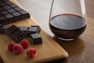 dark chocolate and zinfandel