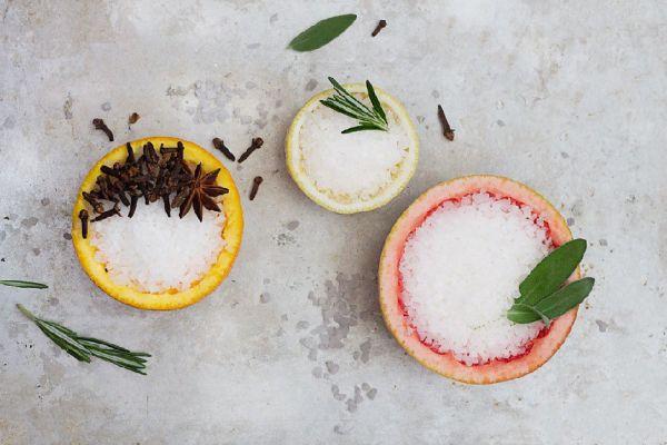 fruit rind and salt air freshener