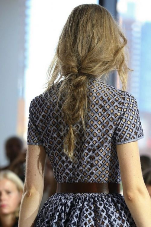 single loose braid