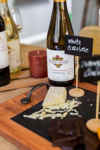 white chocolate and chardonnay