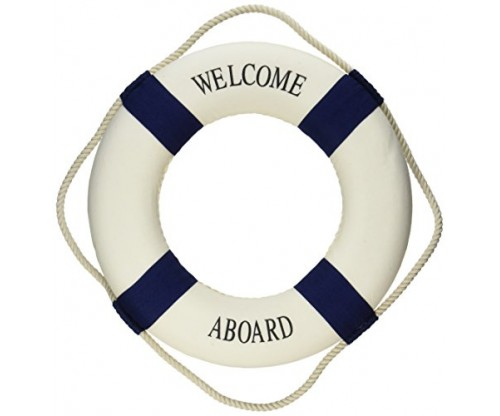 Oliasports Welcome Aboard Cloth Life Ring