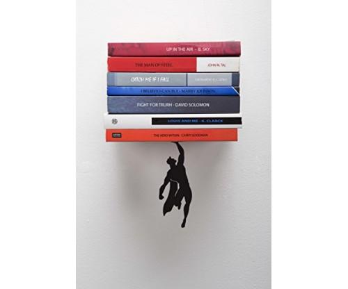"Artori Design ""Supershelf"" – Black Metal Superhero Floating Bookshelf"