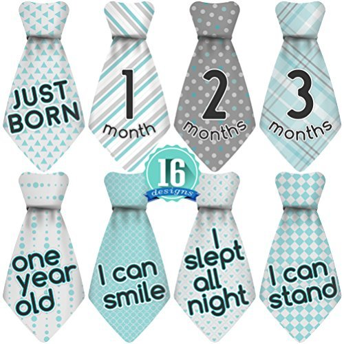 Original Stick Nsnap 16 Baby Monthly Necktie Stickers