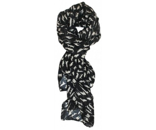 Modern Minute's Fashionable Feline Chiffon Cat Scarf