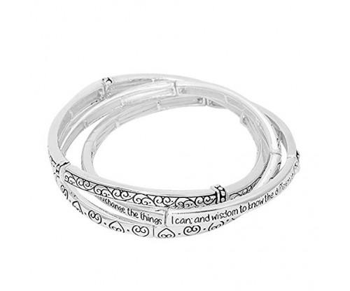 Lola Bella 3 Piece Serenity Prayer Bracelet