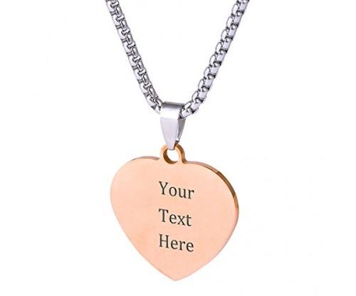 Custom Stainless Steel Pendant Necklace