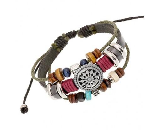 Usstore Women Lady Bohemia Wind Beaded Bracelet