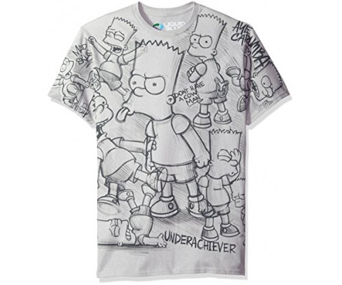 Liquid Blue Men's Simpsons Bart T-Shirt