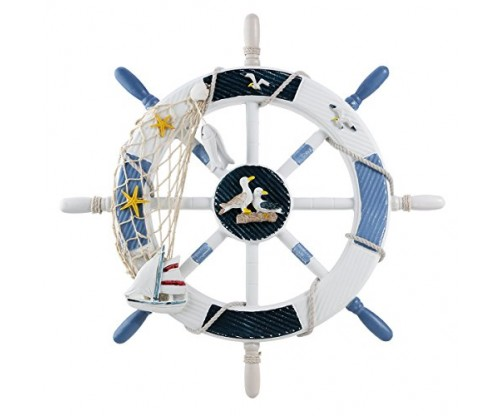 WINOMO 18-Inch Wheel – Nautical Wall Decor