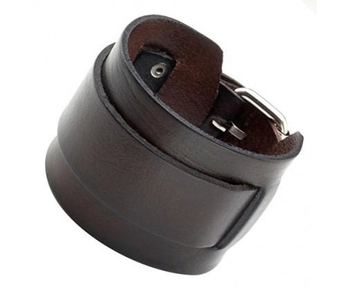 Zysta Punk Unisex Genuine Leather Wide Belt