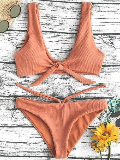 Front Tied Swimsuits