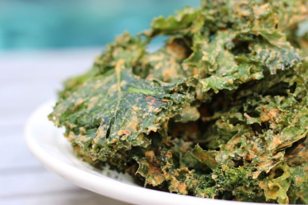 Kale and Spinach Chips