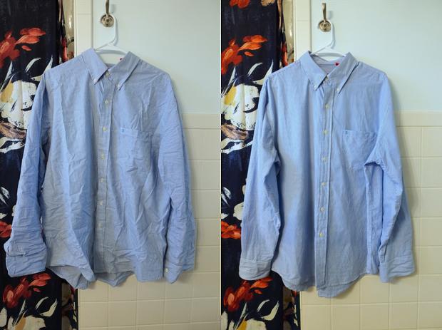 dewrinkle clothes vinegar