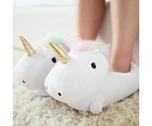 Smoko Plush Buddies Unicorn Shaped Slippers