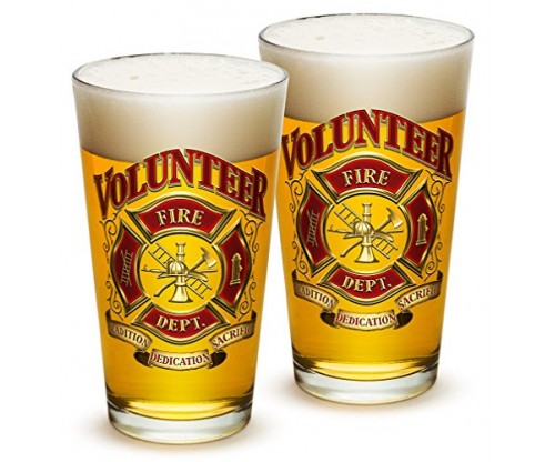 Pint Glasses – Firefighter Gift for Men or Women