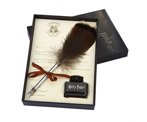 OPENDGO Antique Harry Potter Writing Quill-Feather Dip Pen Set