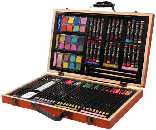 Darice 80-Piece Deluxe Art Set – Art Supplies for Drawing