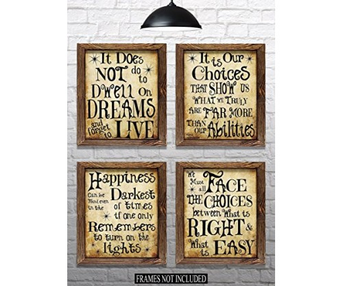 Harry Potter Quotes & Sayings – Set of 4
