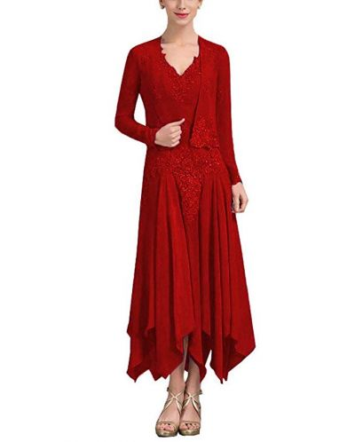 Miusol Women's Retro Floral Lace Vintage 2/3 Sleeve Slim Ruched Wedding Maxi Dress